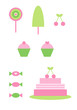 Clipart-Set: Süßigkeiten