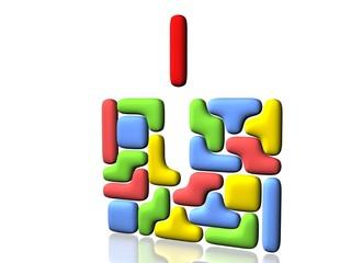 Juego del Tetris en 3D con piezas redondeadas