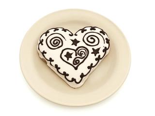 heart spice cake