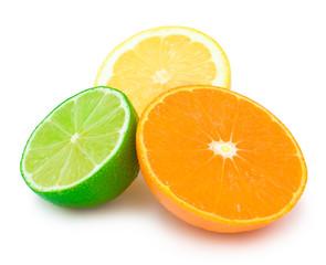 colourful citrus slices