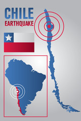 Chile Earthquake Map