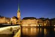 Zurich at twilight, Switzerland