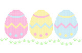 Embroidery - easter eggs poster
