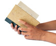 Hands holing a book
