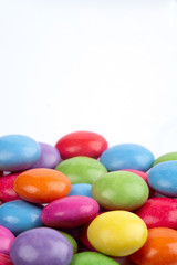 Candies against a white background