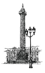 Vendome column in Paris