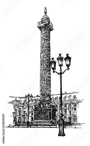 Zdjęcia na płótnie, fototapety, obrazy : Vendome column in Paris