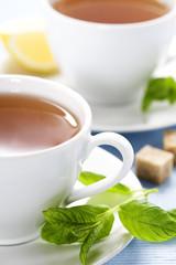 fresh herbal mint tea