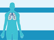 lung medical background vector