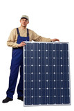 expert with solar panel 01 poster