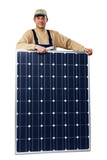 expert with solar panel 02 poster