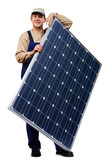 expert with solar panel 10 poster