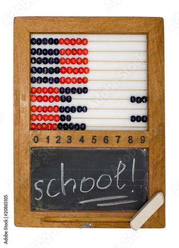 Children's school board and abacus