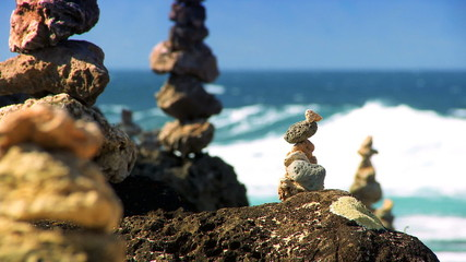 Serenity Stones with Ocean backdrop