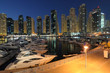 Dubai Marina at dusk. United Arab Emirates