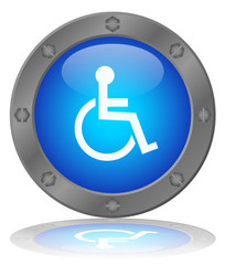 DISABLED SIGN Web Button (Disability Handicap Symbol Mobility)