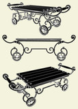 Antique Cart Vector 01