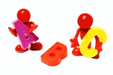 rote Männlein bringen das ABC