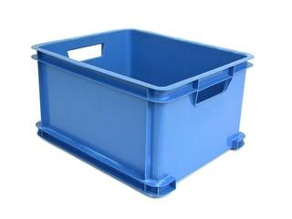 Plastikkiste blau