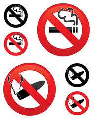 No smoking icons
