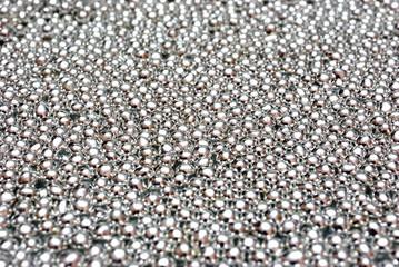 Fondo di perle di zucchero argentate