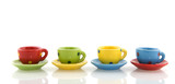 multicolor crockery poster