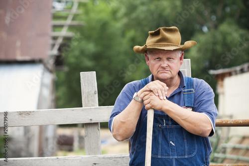 Frustrated Old Farmer Portrait - 20879946