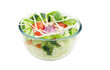 Fresh Salad with Tomato, cucumber and cabbage on Lettuce