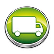 Green delivery truck icon.