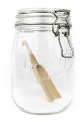 Vintage glass jar with sugar