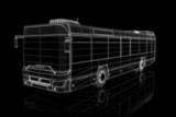 City bus - perspective 3d construction