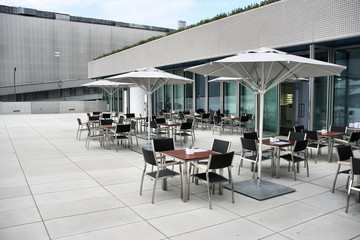 Outdoor cafe in Munich