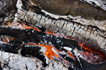 campfire burning embers