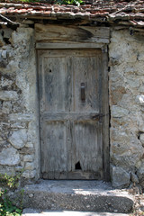 Door, old stone house