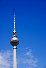 The Fernsehturm teleivison tower, Berlin Germany