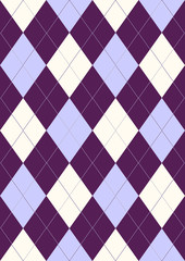Seamless pattern in rhombuses