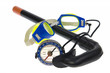Isolated - Tourist compass, swimming goggles,  snorkel