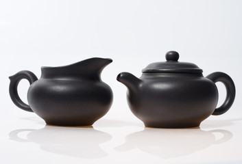teapot and pot for chinese tea ceremony