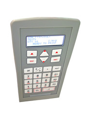 grey dial control panel isolated, electronics