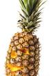 Ananas mit lustigem Gesicht