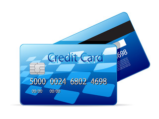 Vector icon of a credit card