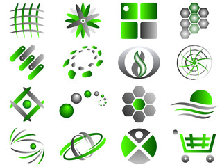 Vector Abstract Logo Icon Design Set
