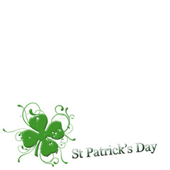 vector - st patricks day footer