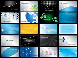 business card-vector set