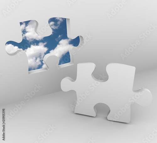 Puzzle Piece - Blue Sky Opening