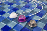 Central Catheters on Blue Tile