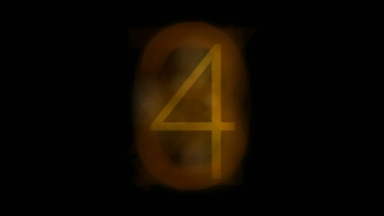 Countdown video with golden figure,seamless loop,HD