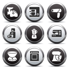 Metal button with icon 19