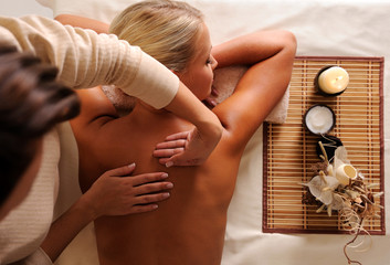 Woman getting relaxation massage