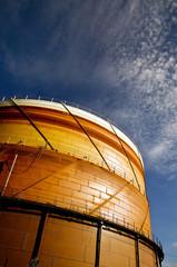 Gas storage silo